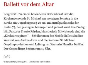 Bergedorfer Zeitung 15.07.2017